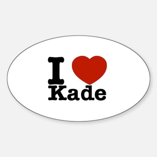I Love Kade Sticker (Oval)