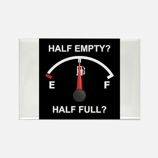 Half Empty Or Half Full? Rectangle Magnet