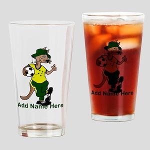 Australia Soccer Kangaroo Drinking Glass