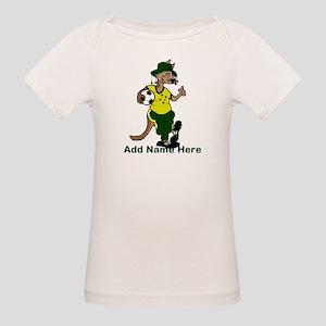 Australia Soccer Kangaroo Organic Baby T-Shirt