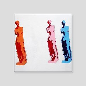 """VENUS DE MILO STATUE Square Sticker 3"""" x 3"""""""