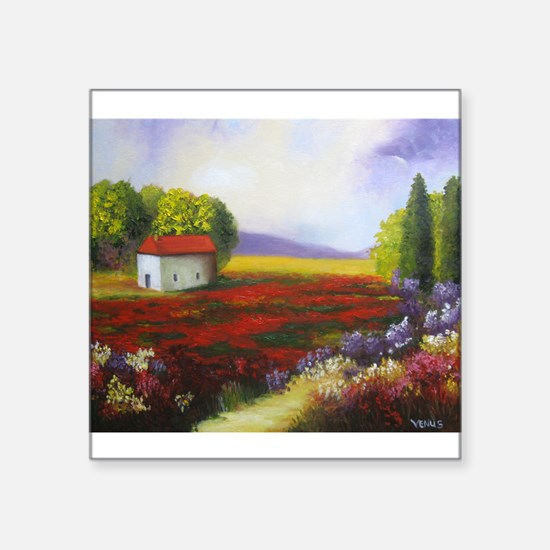 "LANDSCAPE PAINTING Square Sticker 3"" x 3"""