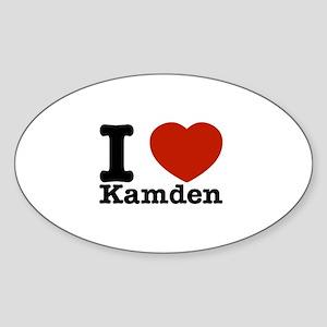 I Love Kamden Sticker (Oval)