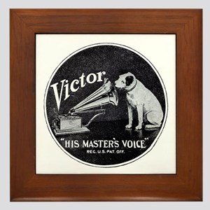 His Masters voice Framed Tile