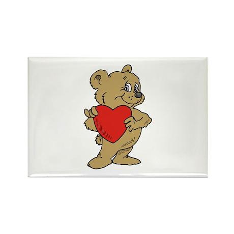 Bear Heart Rectangle Magnet (100 pack)