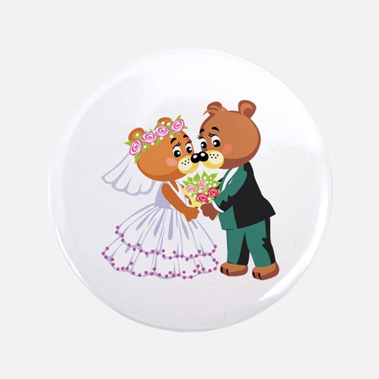"Wedding Bears 3.5"" Button (100 pack)"