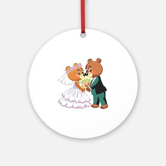 Wedding Bears Ornament (Round)