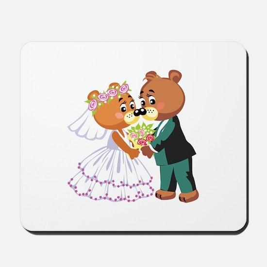Wedding Bears Mousepad