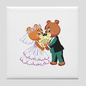 Wedding Bears Tile Coaster