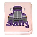Trucker Sally baby blanket
