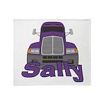 Trucker Sally Throw Blanket