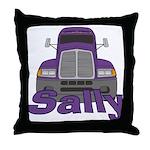 Trucker Sally Throw Pillow