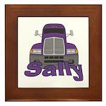 Trucker Sally Framed Tile