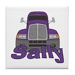 Trucker Sally Tile Coaster