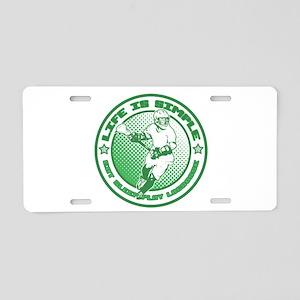 Eat, Sleep, Play Lacrosse Aluminum License Plate