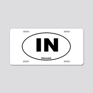 Indiana State Aluminum License Plate