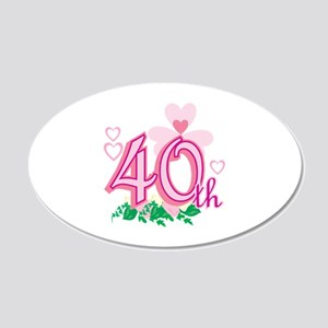 40th Anniversary 22x14 Oval Wall Peel