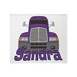 Trucker Sandra Throw Blanket