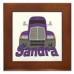 Trucker Sandra Framed Tile