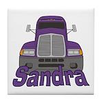 Trucker Sandra Tile Coaster