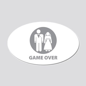 Game Over 22x14 Oval Wall Peel