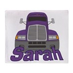 Trucker Sarah Throw Blanket