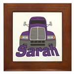 Trucker Sarah Framed Tile