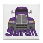 Trucker Sarah Tile Coaster