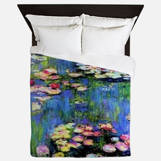 MONET WATERLILLIES Queen Duvet