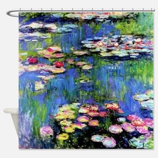 MONET WATERLILLIES Shower Curtain