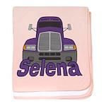 Trucker Selena baby blanket