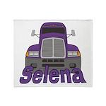Trucker Selena Throw Blanket