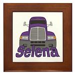 Trucker Selena Framed Tile