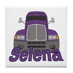 Trucker Selena Tile Coaster