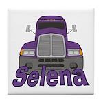 Trucker Selena Tile Coaster
