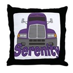 Trucker Serenity Throw Pillow