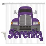 Trucker Serenity Shower Curtain