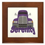 Trucker Serenity Framed Tile