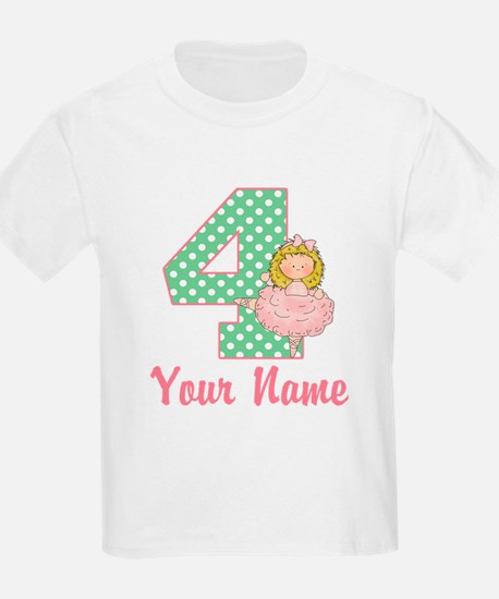 4th Birthday Ballet T-Shirt