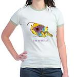 Funny cartoon fish Jr. Ringer T-Shirt