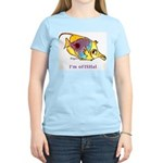 Funny cartoon fish Women's Pink T-Shirt