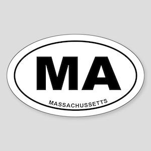 Massachussetts State Sticker (Oval)