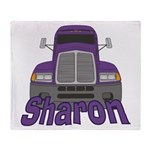 Trucker Sharon Throw Blanket