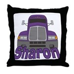 Trucker Sharon Throw Pillow