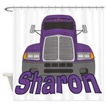 Trucker Sharon Shower Curtain