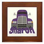 Trucker Sharon Framed Tile
