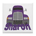 Trucker Sharon Tile Coaster