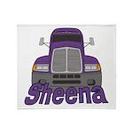 Trucker Sheena Throw Blanket