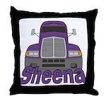 Trucker Sheena Throw Pillow