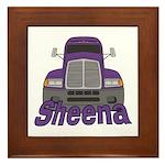 Trucker Sheena Framed Tile